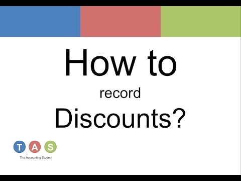 How to record Discounts (Discounts allowed and received)