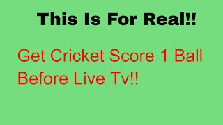 Get Cricket Score 1 Ball before Live TV live line on android iphone | Cricket android | Iphone