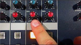 Mesa de mezclas - GRUPOS DE AUDIO - Dos maneras de enviar una FUENTE ESTÉREO a DOS GRUPOS de audio