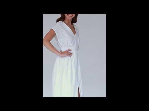 Video: Elegancka sukienka z haftu typu kimono