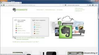 werken met Evernote - 2 evernote downloaden en installeren
