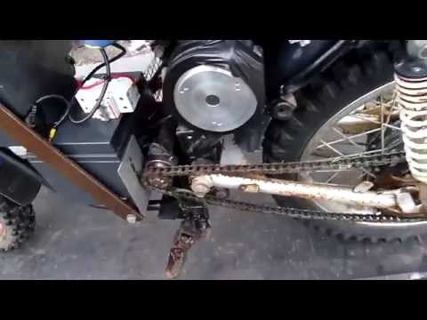 Quick and Dirty 24V DC Electric Motorcycle build