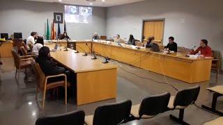 Pleno presencial del Ayuntamiento de Castrillón durante el estado de alarma