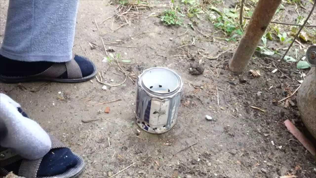 Как сделать походную печку