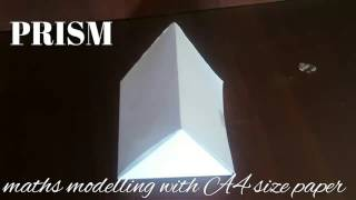 prism | maths model 3d shapes using A4 paper