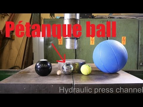 Crushing balls with hydraulic press VOL 2.
