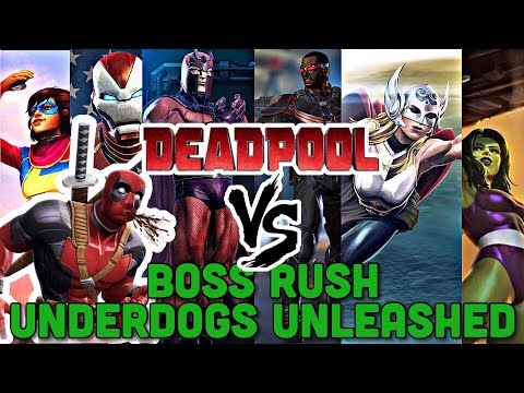 Underdogs Unleashed VS Deadpool! | 6 Star Boss Rush Challenge | Marvel Contest Of Champions