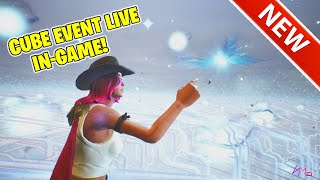 CUBE EXPLODES! GAMEPLAY FOOTAGE! FORTNITE BATTLE ROYALE