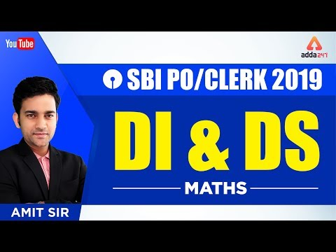 SBI PO/CLERK 2019 | DI & DS | Maths | Amit Sir | 2 P.M