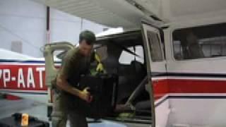 Unloading a GATR from a Cessna