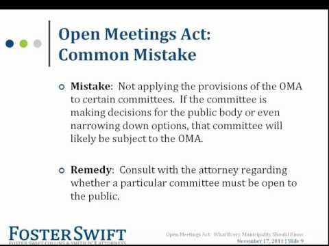 Open Meetings Act: What Every Municipality Should Know