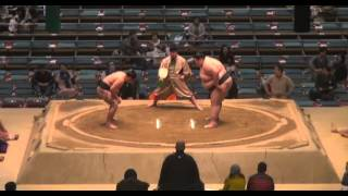 Asakoki vs Orora Day 8 Sumo Haru Basho March 2014