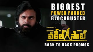 Vakeel Saab Back To Back Promos - Biggest Power Packed Blockbuster - Pawan Kalyan | Sriram Venu Image