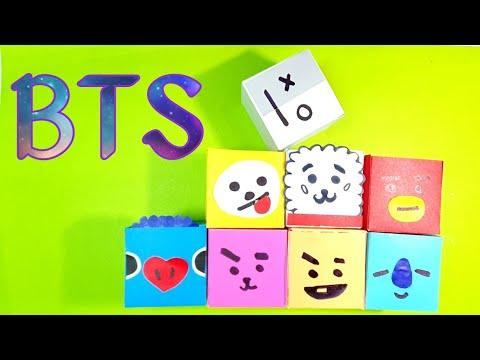 BTS PUZZLE TUTORIAL ~BTS DIY. Paper Toy.  방탄소년단 퍼즐만들기.