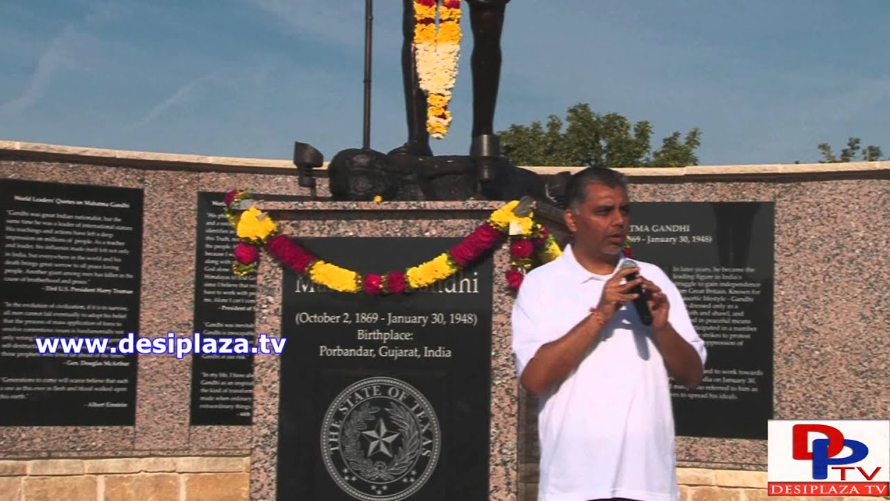 Akshay Wani,President Elect, IANT speaking  at Gandhi Jayanti celebration