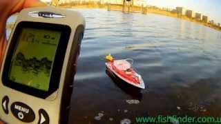 Беспроводной эхолот Fishfinder FFW718 и кораблик для прикормки торнадо.