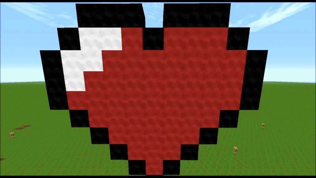 Préférence minecraft heart pixel art - YouTube OM19
