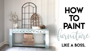 How we paint furniture!