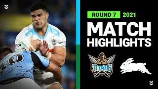 Titans v Rabbitohs Match Highlights   Round 7, 2021   Telstra Premiership   NRL