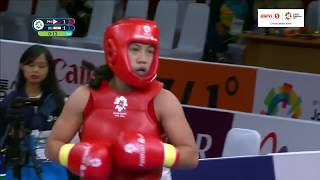 Divine Wally bags the bronze medal in the Women's Sanda 52-kg event in Wushu | 2018 Asian Games