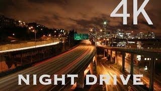 GoPro Hero 4: NIGHT DRIVE Time lapse in 4K