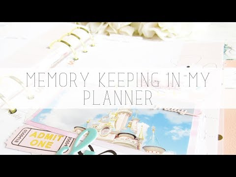 memory keeping in my planner | the fairytale club