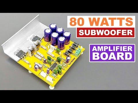 80 Watts Subwoofer Mono Audio Amplifier Board DIY TIP3055 & TIP2955 Transistor (Hindi) ELECTRO INDIA