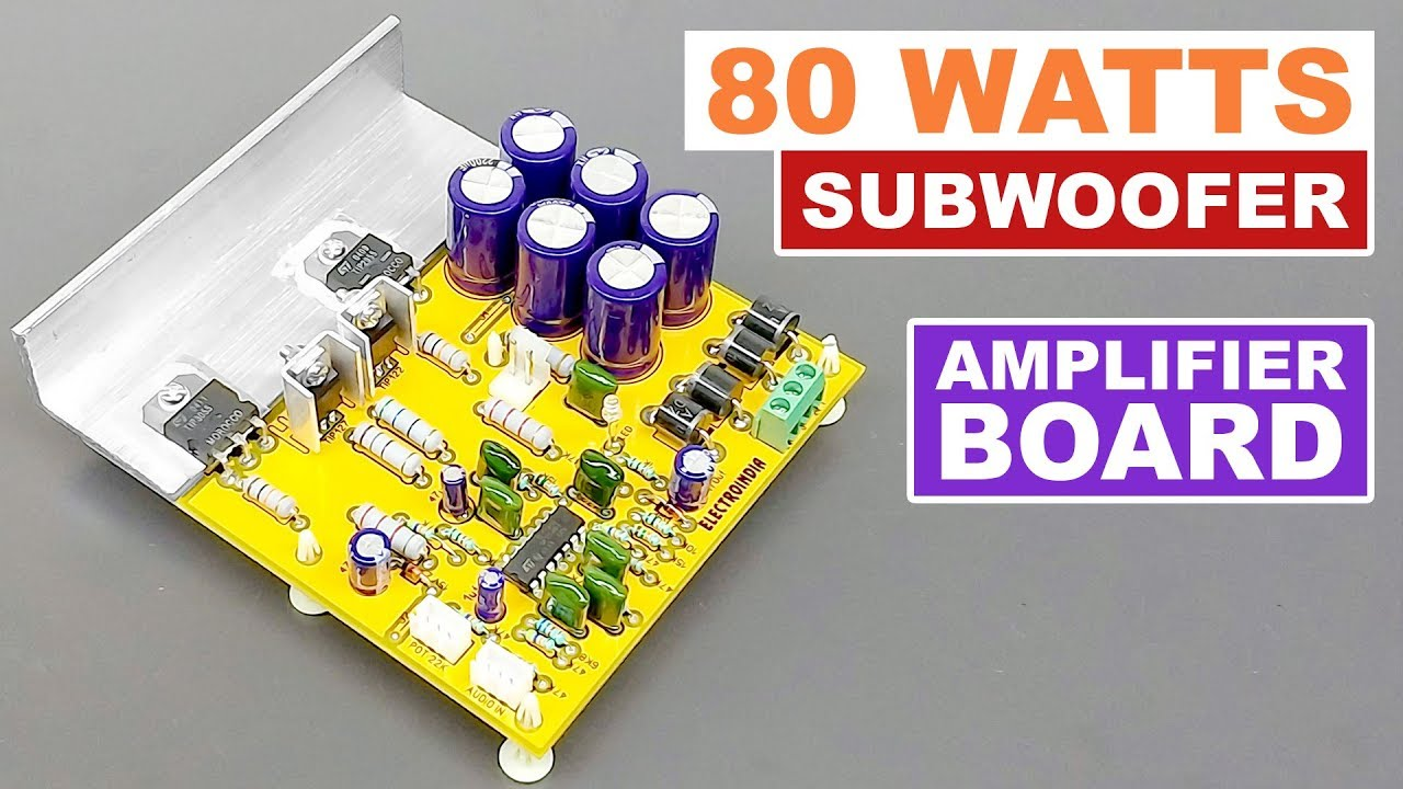 80 Watts Subwoofer Mono Audio Amplifier Board DIY TIP3055 & TIP2955  Transistor (Hindi) ELECTRO INDIA