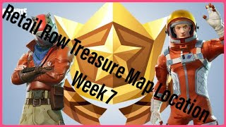 """""""Follow The Treasure Map found in Retail Row"""" location Fortnite Weekly Challenge 7"""