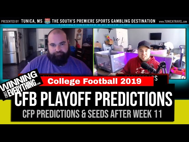 WCE: College Football Playoff Predictions (after Week 11)