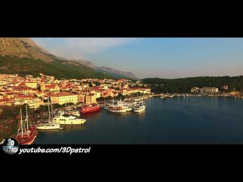 (4k) Drone over Makarska, Croatia
