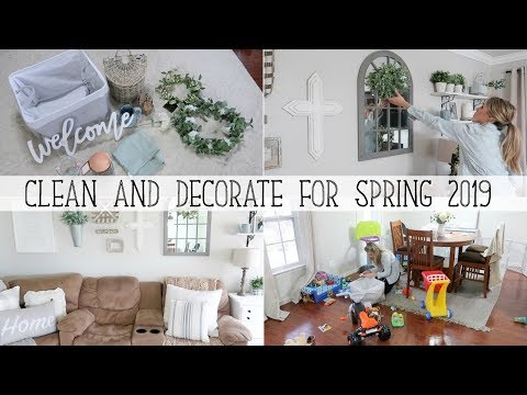 SPRING HOUSE TOUR 2019 | SPRING CLEAN & DECORATE WITH ME- Cleaning motivation & Spring decor ideas!