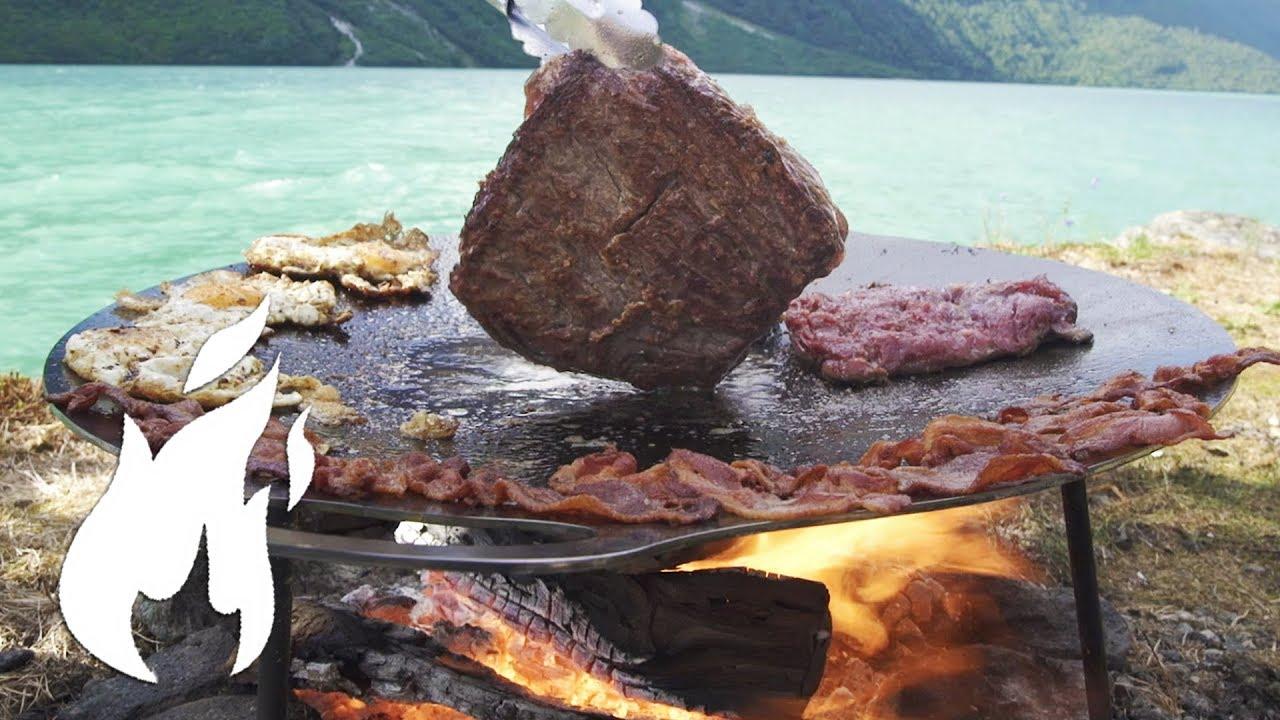 Download Wie du Frühstück noch nie gegrillt hast ASMR auf vom Feuer 🔥👌