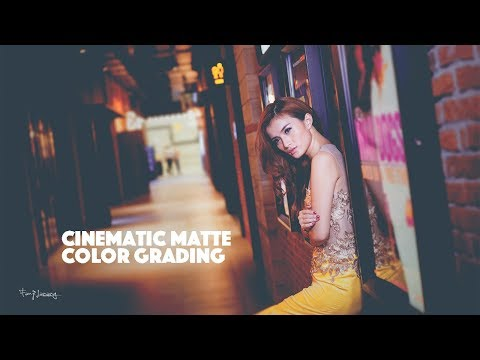 Cinematic Matte Color Grading | TWO MINUTES Process | Photoshop Tutorials thumbnail