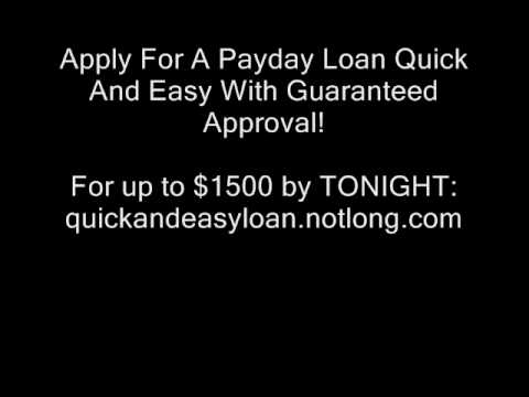 Apply For A Payday Loan Quick And Easy - Guaranteed Approval!