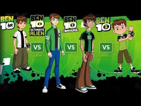 Ben10 Alien Force VS Ben10 Ultimate VS Ben10 Omniverse VS Ben10 Reboot VS Ben10 Simple 2017 HD