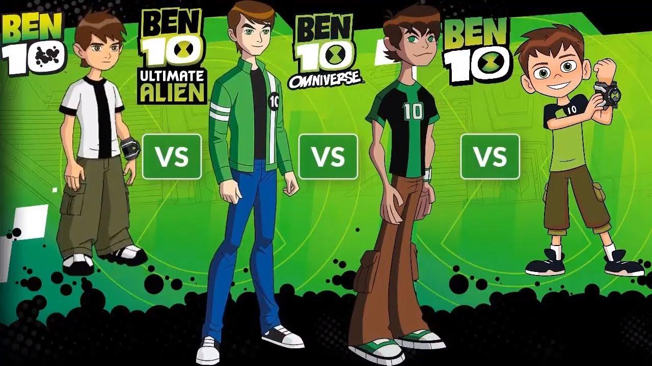 Ben10 Alien Force Vs Ben10 Ultimate Vs Ben10 Omniverse Vs Ben10