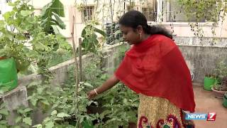 organic terrace garden is heaven forever | Poovali | News7 Tamil