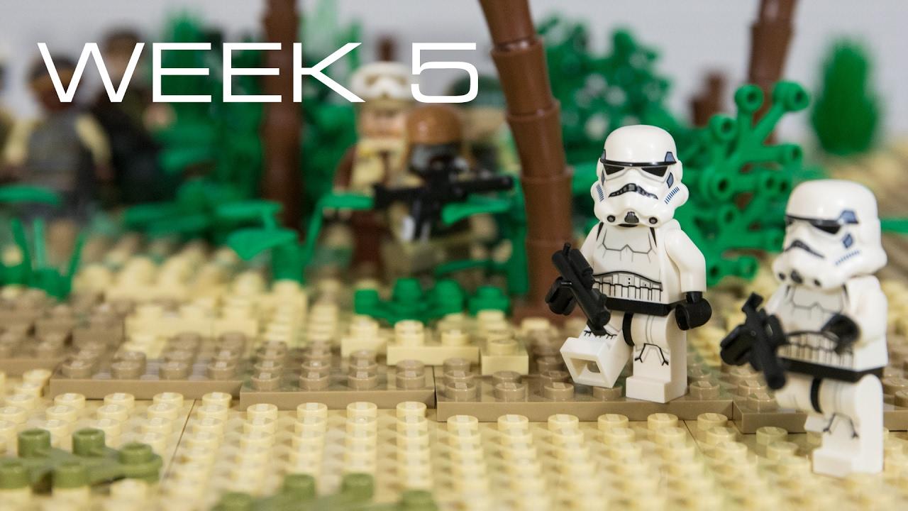 Lego Building Scarif Week