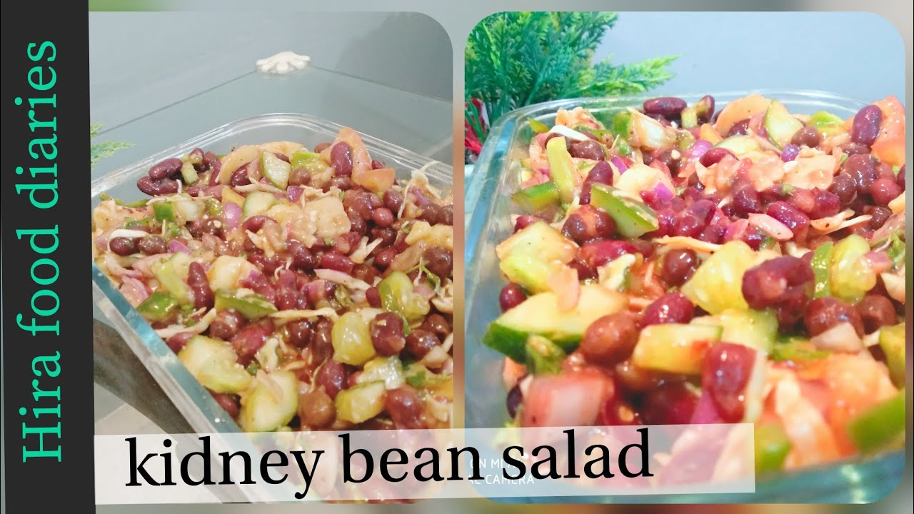 Red kidney beans salad recipe | black chickpea salad | healthy salad