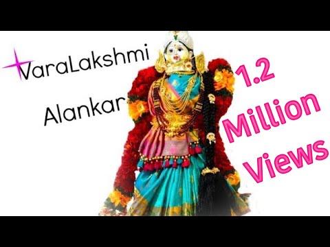 Varamahalakshmi Alankar   Saree Draping  VaraLakshmi Vratham idol Preparation
