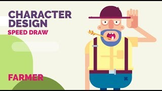 How to draw a Character Design _ Farmer - Speed Draw