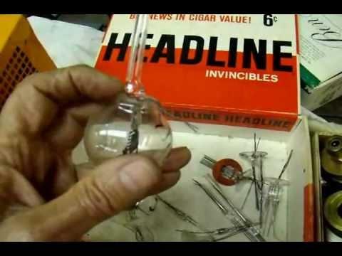 helium leak detector used to test vacuum tube feedthroughs