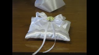 Подушечка для свадебных колец своими руками