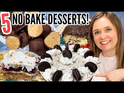 5 NO-BAKE DESSERTS | Incredibly EASY No-Bake Dessert Recipes | Julia Pacheco