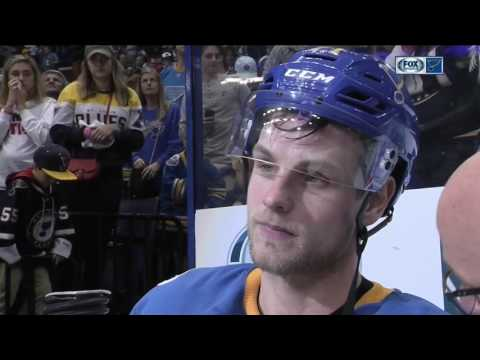 Sobotka thanks Blues fans in his return to the NHL
