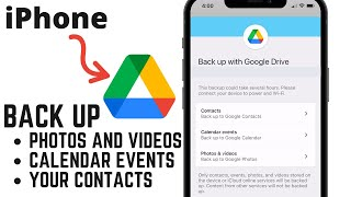 How to Back Up iPhone Data With Google Drive