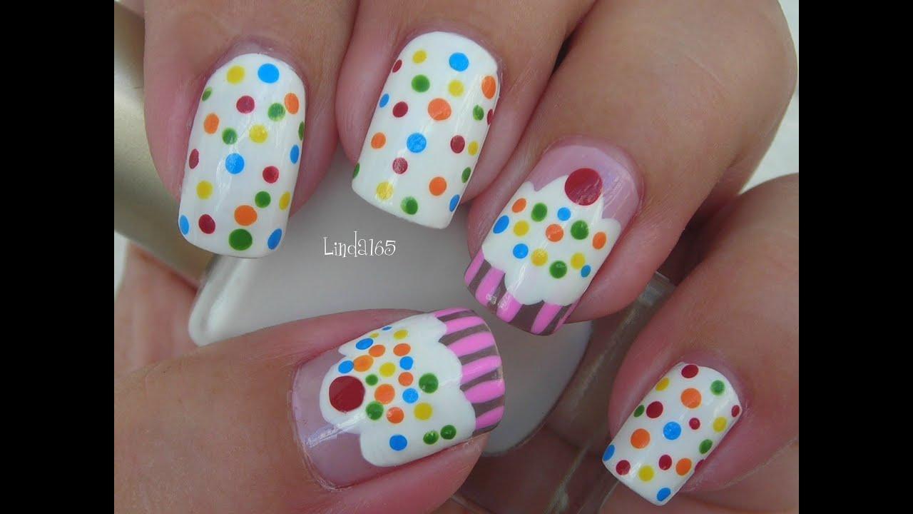 nail art - cupcake nails decoracion