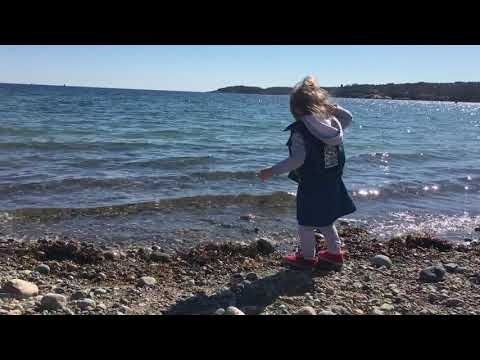 Throwing rocks at the beach 4/23/18