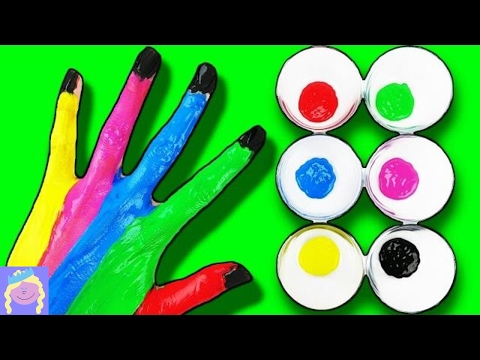 Learn Colors with Finger Family Hand Painting Song #1